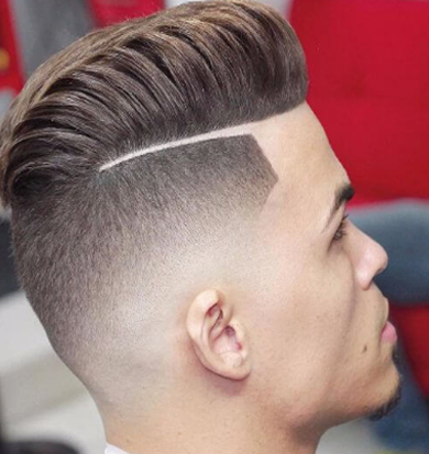 disconnected fade pompadour