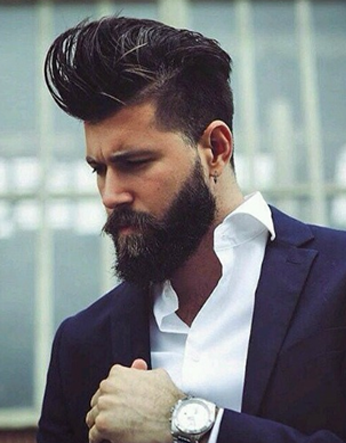 hipster styled pompadour